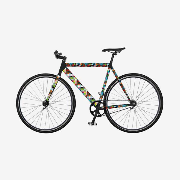 Remember RK14 random kerékpár matrica