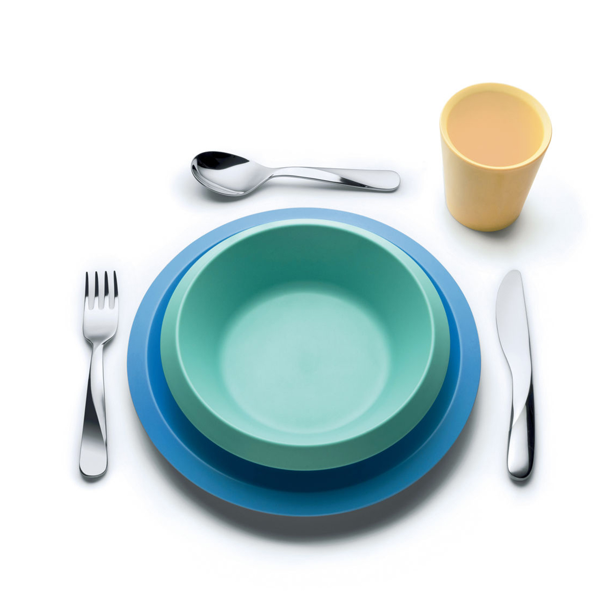 """Alessi UNS05S2 """"Giro Kids"""" gyerek étkészlet kék"""